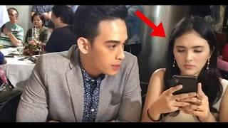 Diego Loyzaga Pinahiya si Sofia Andres. Text Kasi Ng Text sa Presscon, Diego Inagaw Ang Phone!