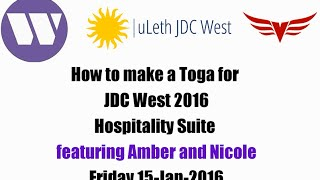 JDC West 2016 Hospitality Suite - Toga Tutorial featuring Amber and Nicole