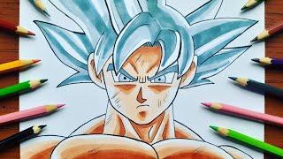 Como Desenhar o Goku Instinto Superior Completo ( Dragon Ball Super )