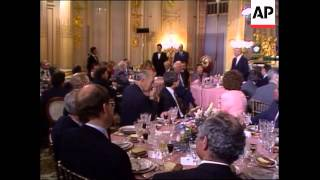 Soviet Union leader Mikhail Gorbachev host a chicken kiev and caviar lunch at the Soviet Embassy in