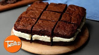 Homemade Cheesecake Brownie Sandwiches | Easy Brownie Recipes | Twisted