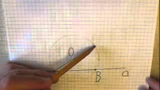 Построение перпендикуляра к прямой из данной точки этой прямой