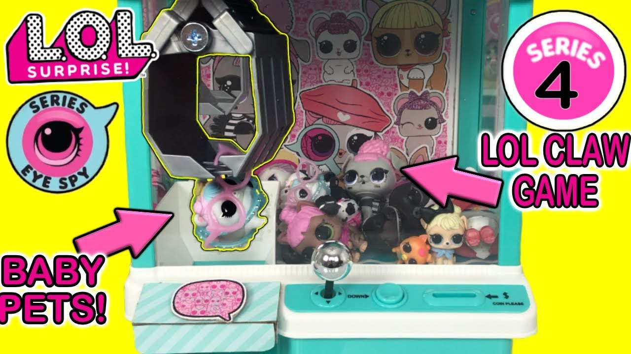 LOL Surprise Series 4 Claw Machine Game With LOL Series 4 Pets! | LOL Surprise Crane Machine Game!