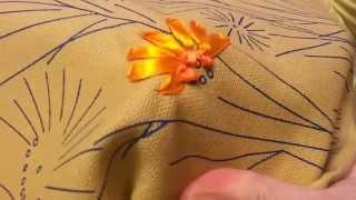 """Уроки по вышивке лентами - Шов """"французкий узелок"""""""