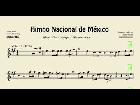 Mexico National Anthem Sheet Music for Alto Saxophone Horn and Soprano Saxophone