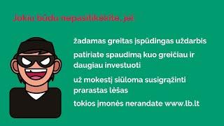 LB Paskaitos. Investavimo Pradžiamokslis