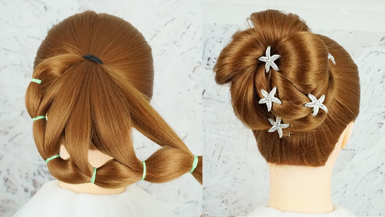 Latest Hairstyle For Wedding Reception Party Hairstyles Medium Length Hair Braid Hairstyles 2019