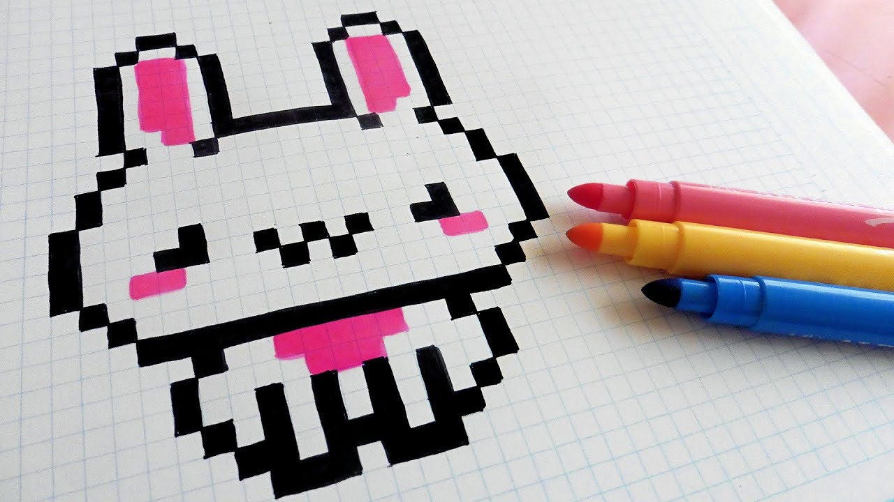 Handmade Pixel Art How To Draw Kawaii Rabbit Pixelart