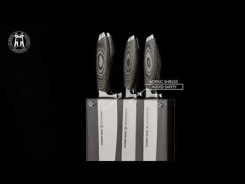 Zebra Wood Knives + Block // 7-Piece Set video thumbnail