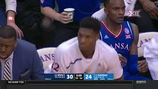 West Virginia vs Kansas Men's Basketball Highlights