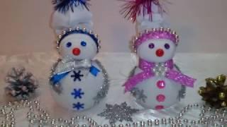 МК.Снеговик из носка за 5 минут!!!Поделки с детьми!