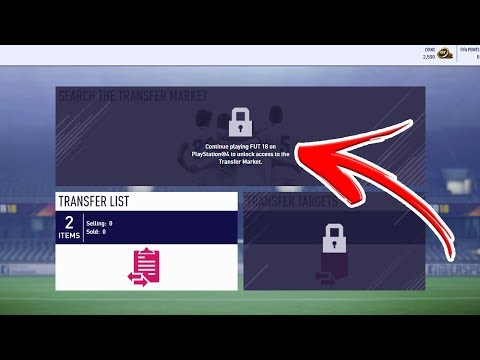 FIFA 18 WEB APP TRANSFER MARKET NOT AVAILABLE *FIX?*