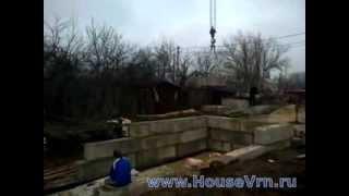 Укладка фундаментных блоков (ФБС) Воронеж(, 2014-02-15T07:16:09.000Z)
