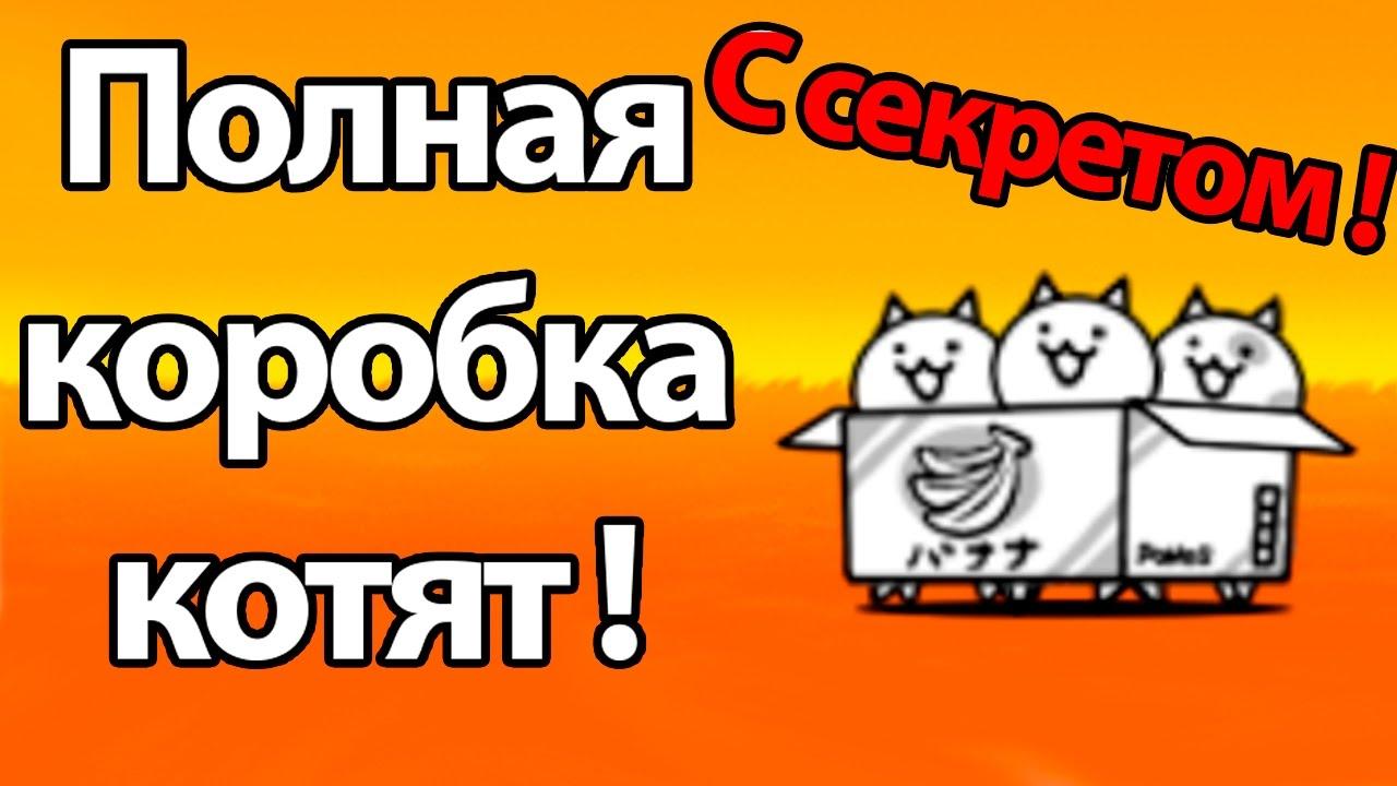 Полная коробка котят ! С секретом ! ( Battle Cats )