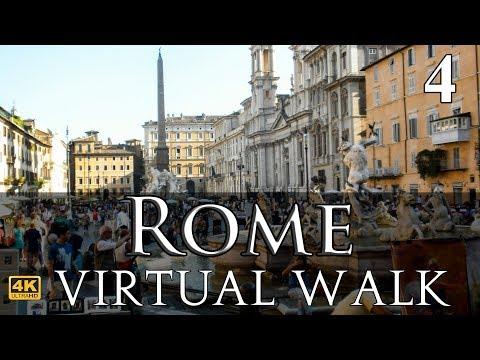 Pantheon to Piazza Navona Virtual Walk in 4K