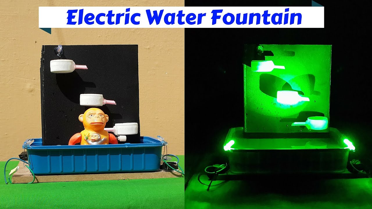 How To Make An Electric Tabletop Water Fountain With LED Light   YouTube