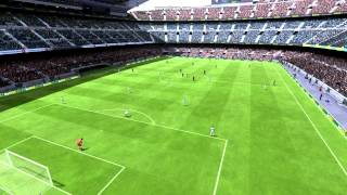 Fifa 13 PC Entree Barca-Real LDC Camp Nou + Buts avec commentaires Esp