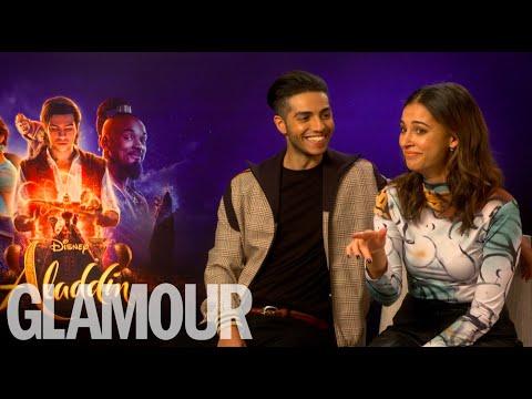 "Aladdin's Naomi Scott & Mena Massoud's dating advice: ""Smash his serpent"""