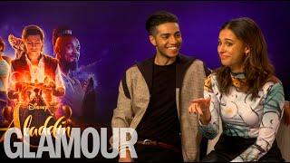 "Download Aladdin's Naomi Scott & Mena Massoud's dating advice: ""Smash his serpent"""