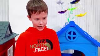 Max y Katy fingen jugar casa de juegos de venta para niños
