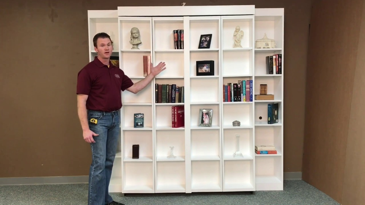 Pivoting Bookcase Murphy Youtube
