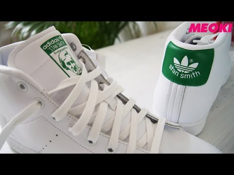 Stan Smith Mid Sneaker in White Adidas Originals Unboxing
