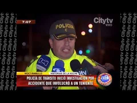 Teniente de la Policía se accidentó en aparente estado de embriaguez  | City Tv