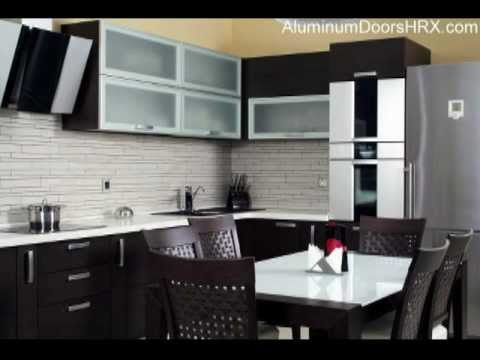 Kitchen aluminum cabinet doors aluminum doors for cabinets youtube Kitchen profile glass design