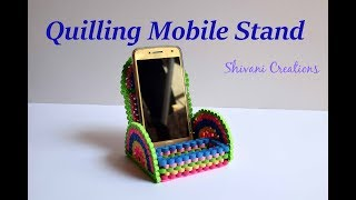 Quilling Mobile Stand/ DIY Mobile & Headphone Holder/ Quilling Mobile Holder