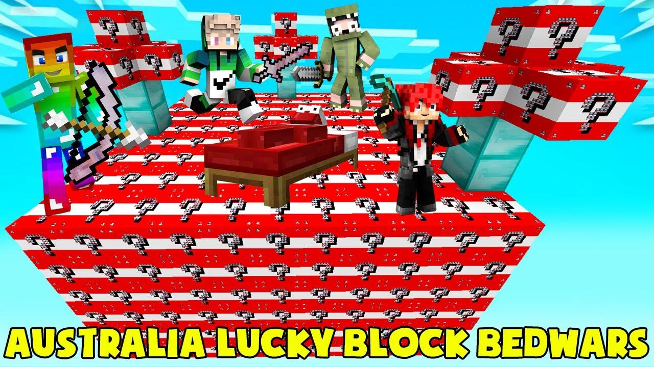 MINI GAME : AUSTRALIA LUCKY BLOCK BEDWARS ** AI TIỀN NHIỀU SẼ CHIẾN THẮNG ??