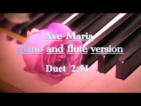 Ave maria piano and flute duet - classical music - production music library