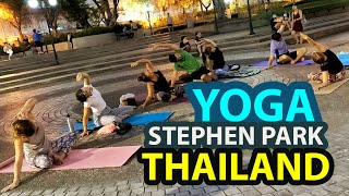 Yoga Practice by White People In Thailand Stephen Park Base 2020 | Yoga Classes On Thailand