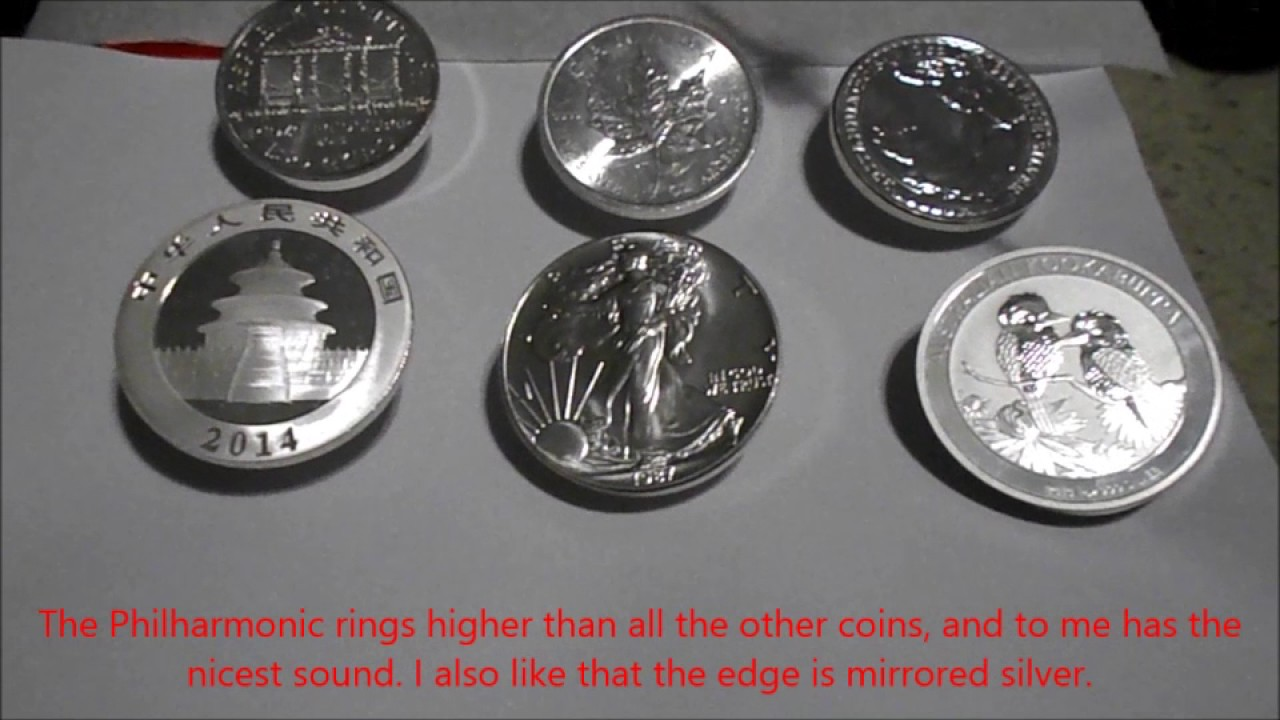 World Silver Coins Ringing Sound Comparison