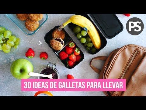 📚🍎 30 IDEAS DE GALLETAS Y BARRITAS PARA LLEVAR... | SALUDABLES | Auxy