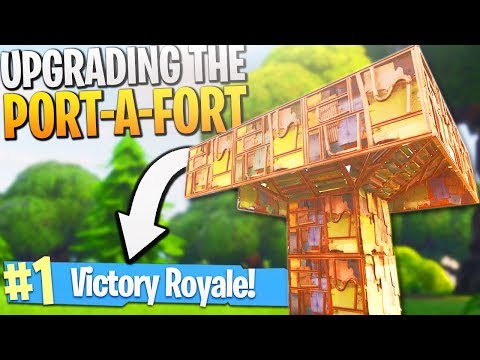 UPGRADING the Port-a-Fort on Fortnite! - Fortnite Port-a-Fort Upgrade