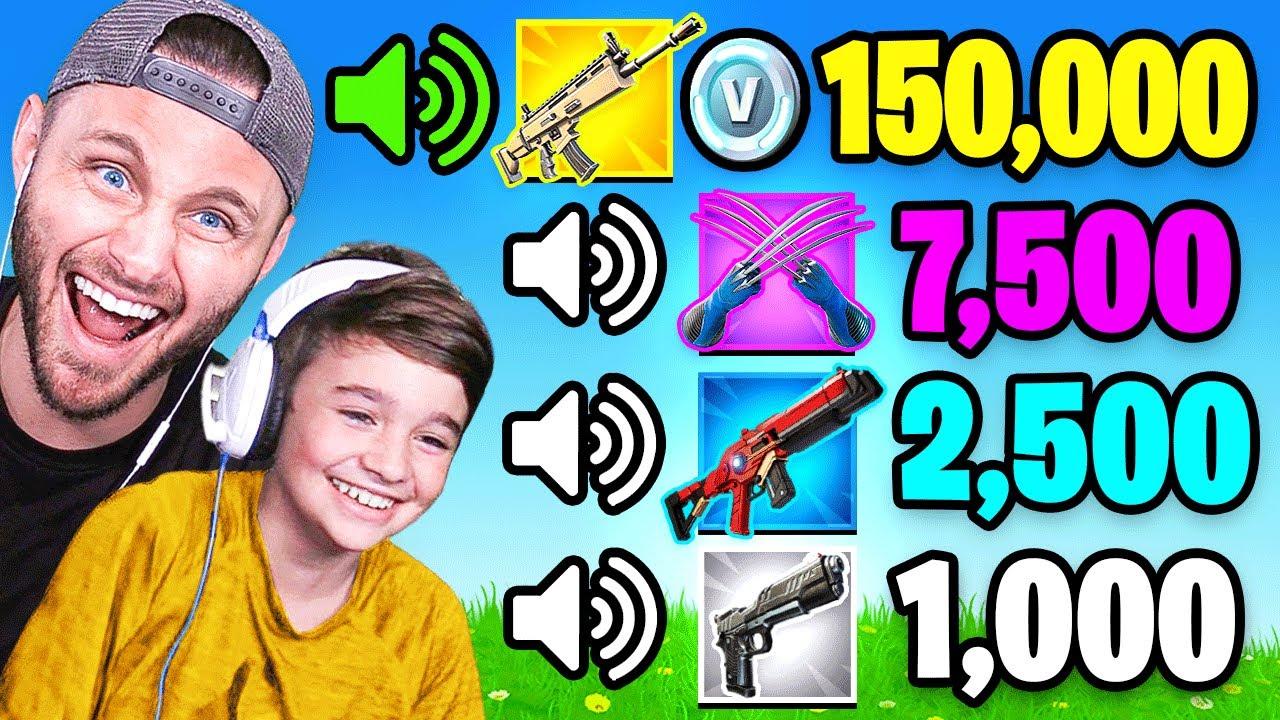 GUESS The SOUND vs MY FAMILY in Fortnite (100,000 VBUCKS)
