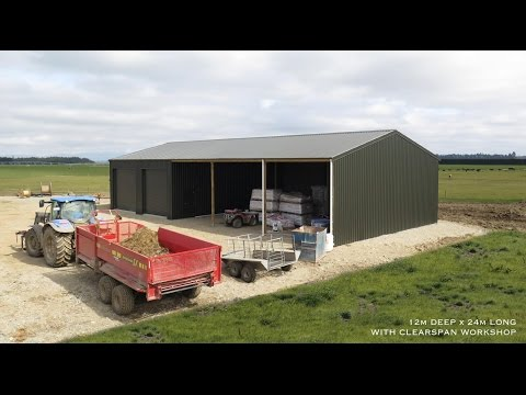 Farm Workshop construction timelapse by Alpine Buildings
