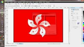Tutorial for Corel Draw - Hongkong flag (czech comment)