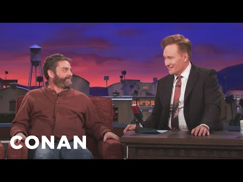 Zach Galifianakis Thinks His Redhead Son Will Grow Up Ugly   CONAN on TBS
