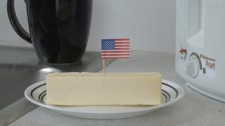 This Stick Of Butter Is Left Out At Room Temperature: Patriotic Edition