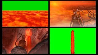 Lava Sea & Falls Free 4k Green Screen (Animated)
