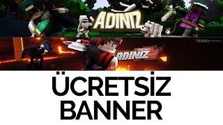 Minecraft Ücretsiz Youtube Kapak Fotoğrafı | Banner Tasarımları | Youtube Banner Template
