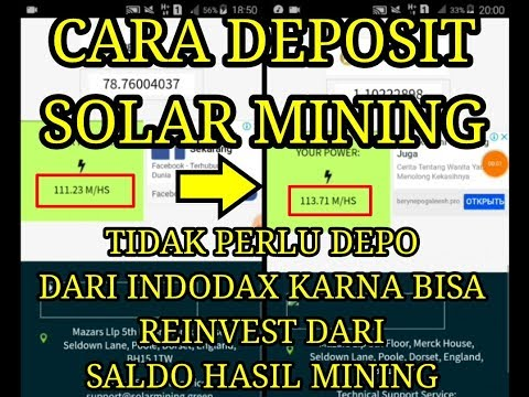 Cara deposit solar mining BTC/LTC/USD/DOGE
