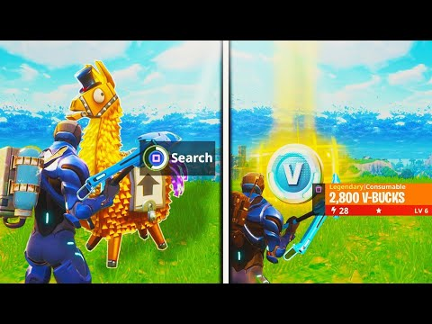 what happens after opening a gold loot llama in fortnite battle royale new season 4 update - fortnite lama ingame