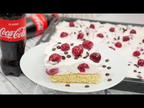 Coca-Cola Kuchen mit Kirschen I Limo-Kuchen