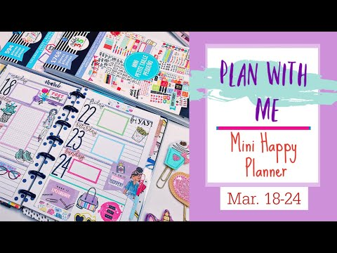 Plan With Me! Mini On-The-Go Happy Planner | HeartsAndaPlan
