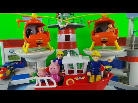 Fireman Sam 🚒 Firefighter Saves the Day - The Peppa Pig Rescue 🚒 Toy Cartoons for Children