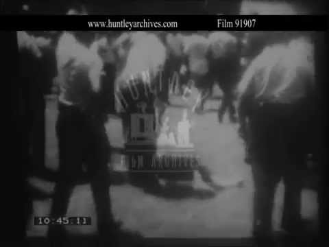 Civil Rights demonstration in Tuscaloosa, Alabama, Archive film 91907