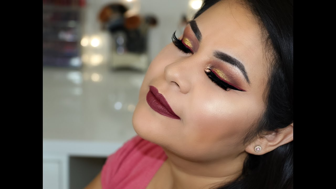 Cranberry Gold Fall 2016 Makeup Tutorial With Doble Winged Liner