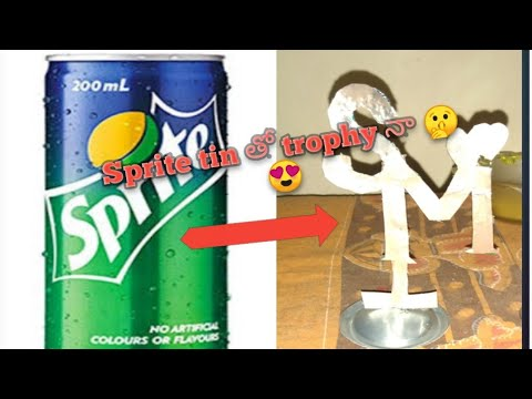 Sprite can waste material craft ideas